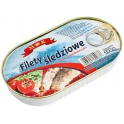 Filety śledziowe w pomidorach M&K