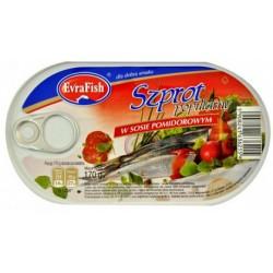 Evra Fish szprot w sosie pomidorowym 192g