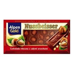 Czekolada Alpen Gold Nussbeisser 100g.