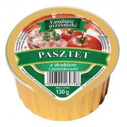 Pasztet drobiowy z papryką, pomidor,pieczarki Familijne Przysmaki 130g.