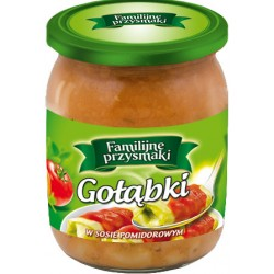 Gołąbki w sosie pomidorowym Familijne Przysmaki 500g.