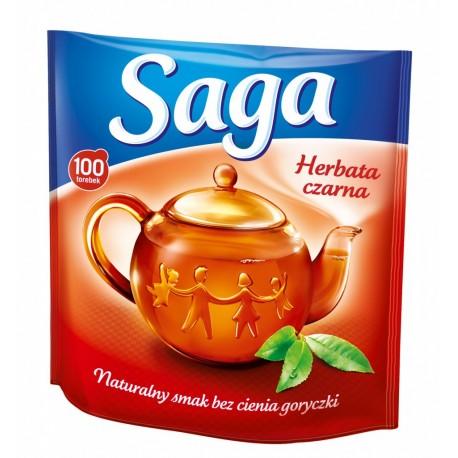 Herbata ekspresowa Saga czarna 50 szt. 70g.