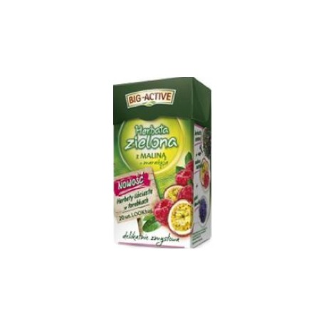 Big active herbata zielona z maliną 56g